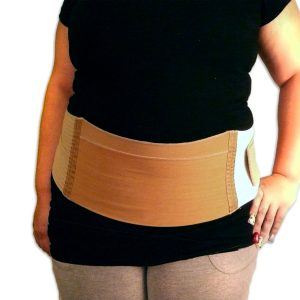 "Postpartum Maternity Belt | 6"" Tall Microfiber Compression Panel"