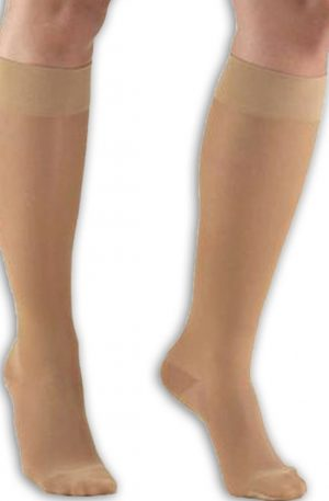 Knee High Compression Support Stockings with Closed Toe