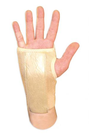 Naugahyde Adjustable Velcro Wrist Brace with Contour Splint