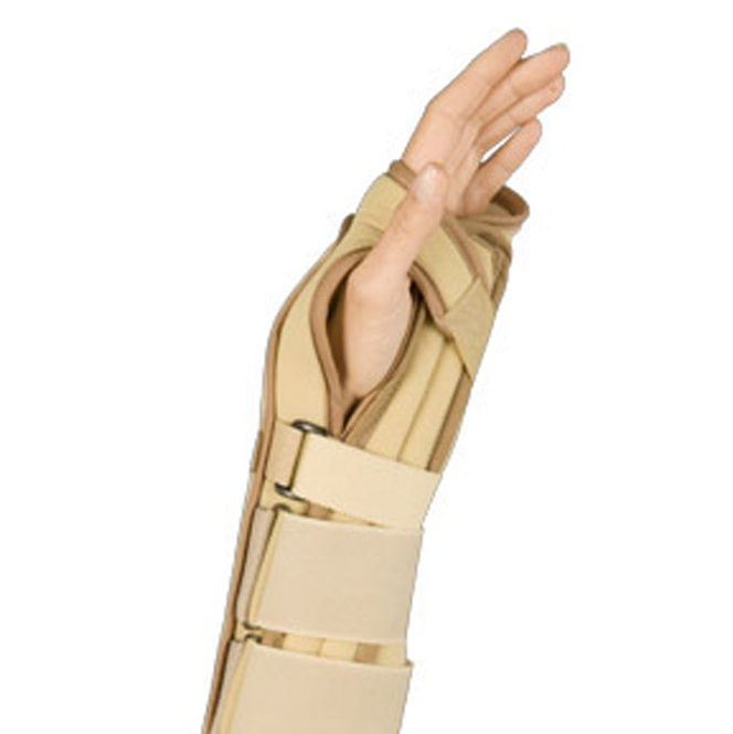 "Naugahyde Wrist Brace w/ 2 Metal Bonings | 11.5"" Contoured Wrist Splint 