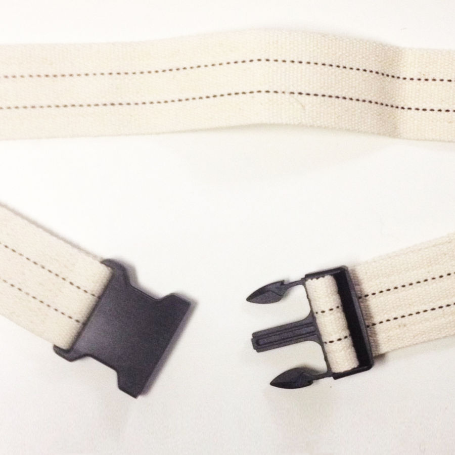 Cotton Gait Belt, Navy or White with Blue Stripes and Plastic Buckle