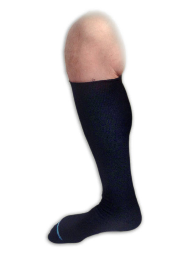 Men's Knee High Ribbed Compression Support Dress Socks