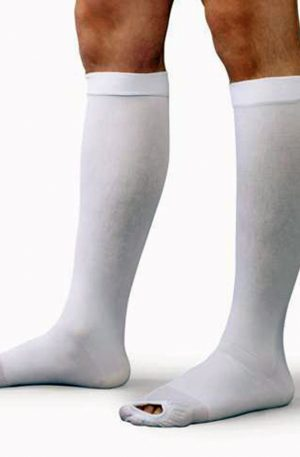 Knee High Compression Support Stockings with Open Toe