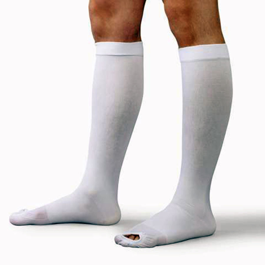 10bc1a1f5 Knee High Compression Support Stockings with Open Toe