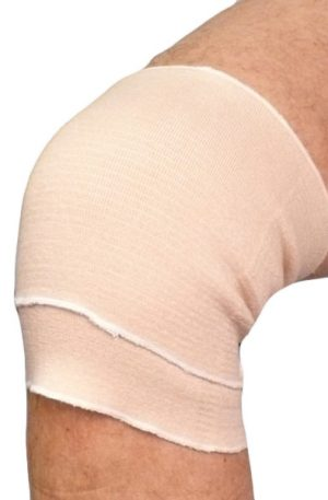 Pull On Knee Cap Support Brace with Double Fold Elastic