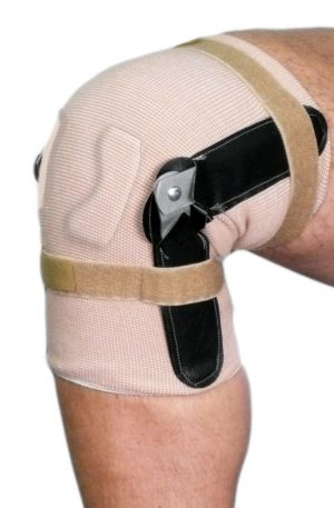 Pull On Knee Brace | Hinged | Closed Patella with Cartilage Pad