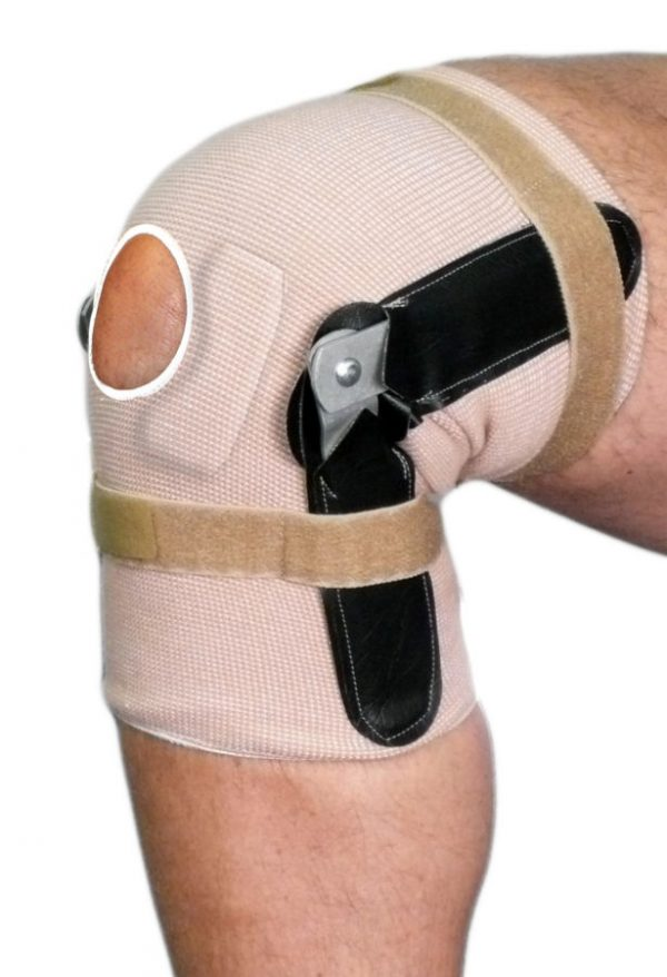 Pull On Knee Brace   Hinged   Open Patella with Cartilage Pad