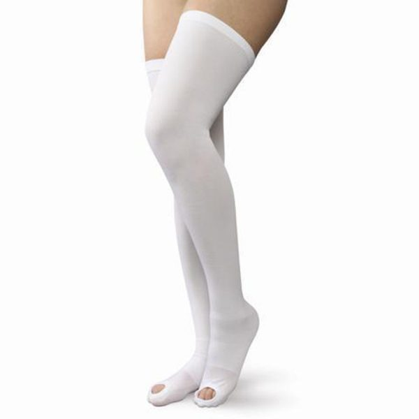 Women's Thigh High Compression Support Stockings with Open Toe