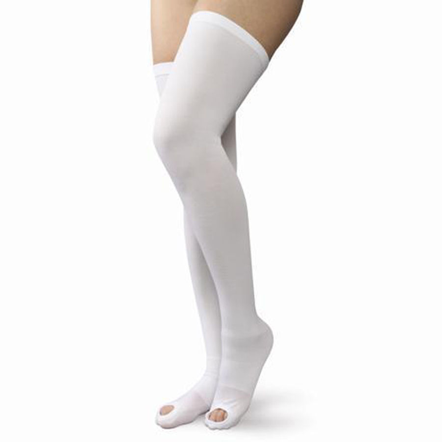 how long wear compression socks after knee replacement surgery