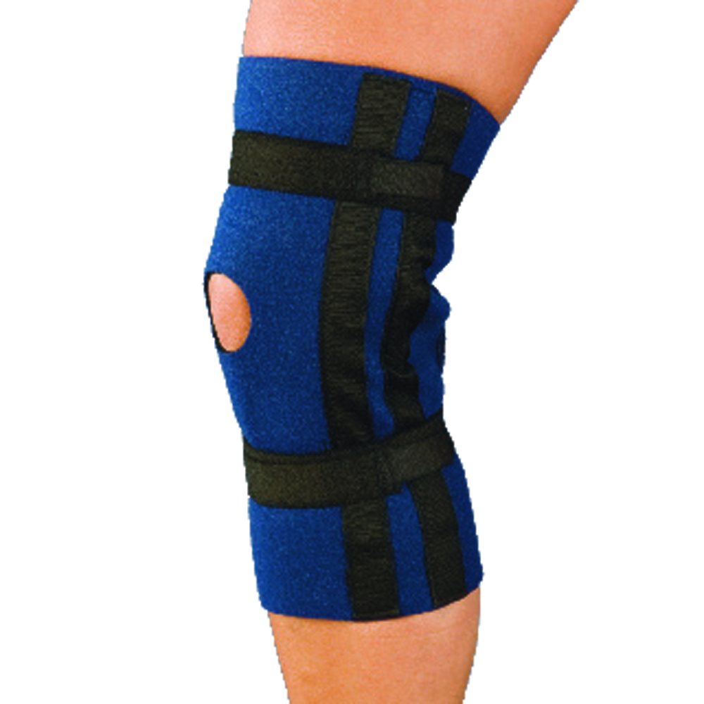 2d120275b9 AT Surgical Knee Brace Hinged Open Patella – Side Hinges Support Adjustable  Compression
